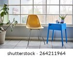 a modern chair and table in a... | Shutterstock . vector #264211964