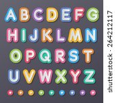 colorful paper capital alphabet ... | Shutterstock .eps vector #264212117