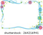 vector drawing colorful flowers ... | Shutterstock .eps vector #264216941