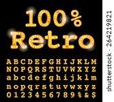 vector bulb font.   Shutterstock .eps vector #264219821