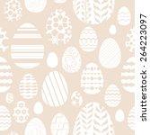 seamless random easter eggs... | Shutterstock .eps vector #264223097
