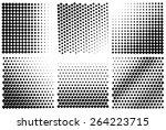 vector halftone. gradient... | Shutterstock .eps vector #264223715