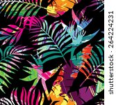 exotic paradise plant seamless... | Shutterstock .eps vector #264224231