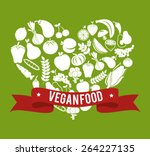 food design over green... | Shutterstock .eps vector #264227135
