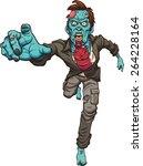 running zombie. vector clip art ... | Shutterstock .eps vector #264228164