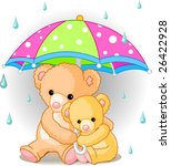 Two Cute Teddy Bears Carrying ...
