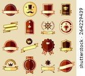 set of retro vintage labels ... | Shutterstock . vector #264229439