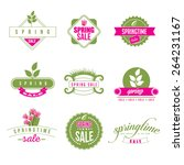 spring sale retro icon... | Shutterstock .eps vector #264231167