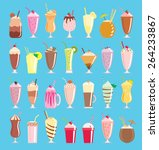a collection of twenty eight...   Shutterstock .eps vector #264233867