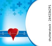 abstract medical background .... | Shutterstock .eps vector #264236291