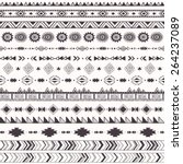 seamless pattern with tribal... | Shutterstock .eps vector #264237089