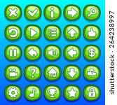 game green interface cartoon ui ...