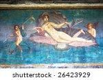 Roman Wall Painting Venus In...