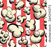 popcorn seamless pattern as... | Shutterstock .eps vector #264243371