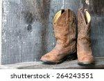 cowboy boots  | Shutterstock . vector #264243551