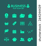 vector flat icon set   business