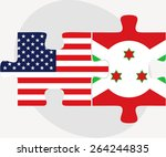 vector image   usa and burundi... | Shutterstock .eps vector #264244835