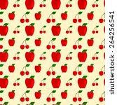 seamless pattern made of cute... | Shutterstock .eps vector #264256541