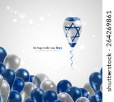 flag of israel on balloon.... | Shutterstock .eps vector #264269861