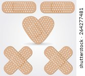 medical adhesive bandage... | Shutterstock .eps vector #264277481