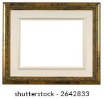 Wooden And Gold Picture Frame...
