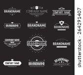 vintage logo set  retro design...   Shutterstock .eps vector #264291407