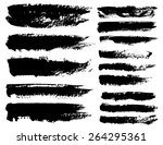 set of black ink vector stains | Shutterstock .eps vector #264295361
