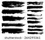 set of black ink vector stains | Shutterstock .eps vector #264295361