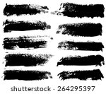 set of black ink vector stains | Shutterstock .eps vector #264295397
