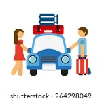 travel concept design  vector... | Shutterstock .eps vector #264298049