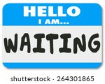 Hello I Am Waiting Words On A...