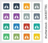very useful flat icon of lungs...