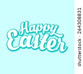 happy easter background | Shutterstock .eps vector #264308831