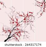 blooming tree.the vector... | Shutterstock .eps vector #264317174