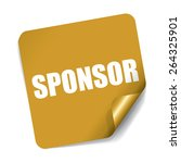 sponsor on square sticker and... | Shutterstock . vector #264325901