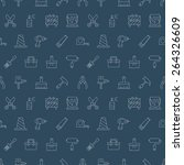 tool line icon pattern set | Shutterstock .eps vector #264326609