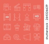 movie line icon set | Shutterstock .eps vector #264326639