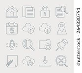 web line icon set