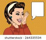 pop art cute retro woman in...   Shutterstock .eps vector #264335534