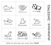 Hand Drawn Zoo Illustration  ...