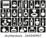 icons on the topic of perfumery ... | Shutterstock .eps vector #264340907