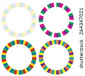 set of four circle frame | Shutterstock .eps vector #264347021