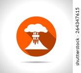 volcano mountain erupting icon | Shutterstock .eps vector #264347615