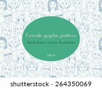 seamless pattern with the image ... | Shutterstock .eps vector #264350069