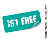 buy 1 get 1 free on rectangle... | Shutterstock . vector #264350594