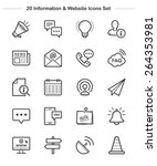 information   website icons set ... | Shutterstock .eps vector #264353981