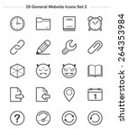 general icons set 2  line icon  ... | Shutterstock .eps vector #264353984