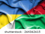 waving flag of madagascar and... | Shutterstock . vector #264362615