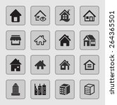 estate icons | Shutterstock .eps vector #264365501