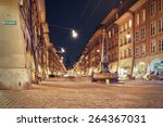 night view on the shopping... | Shutterstock . vector #264367031